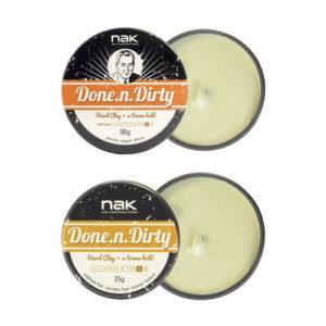 Матовая глина для волос сильной фиксации NAK Done-n-Dirty